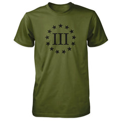 Three Percenter Shirt - III & 13 Stars Olive