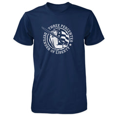 Three Percenter Shirt - Defender of Liberty - Navy