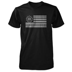 Three Percenter Shirt - III Percenter Flag - Black / White