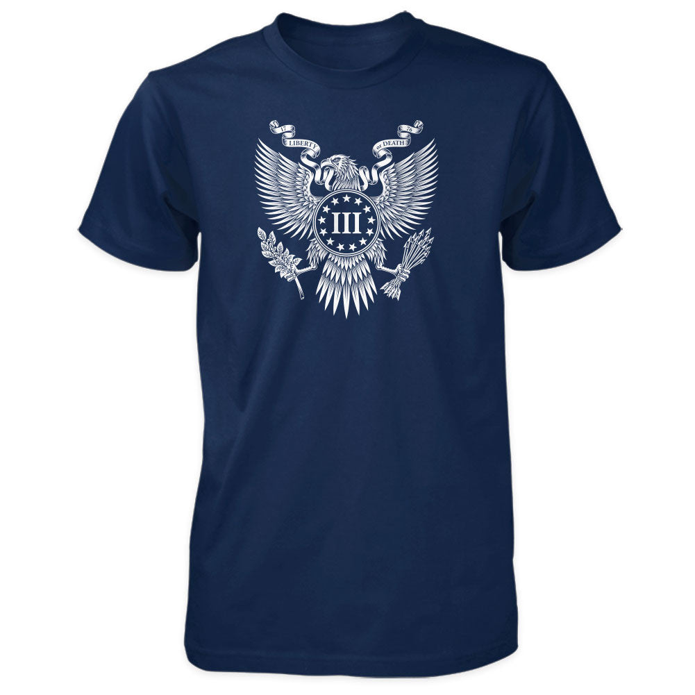 Three Percenter Shirt - Great Seal of the III Percent - Navy