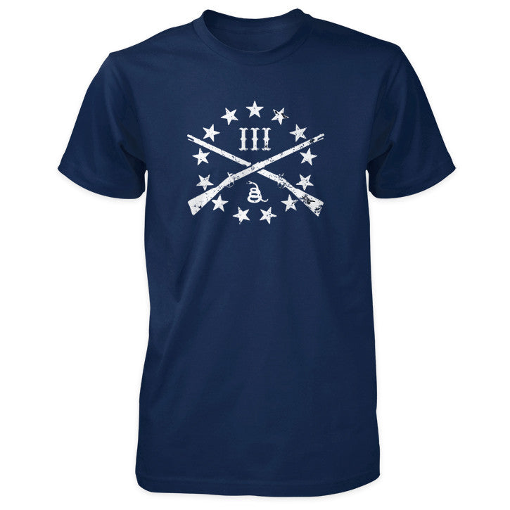 The Three Percenter Logo Shirt - Navy