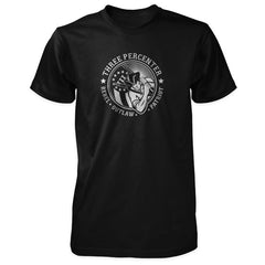 Three Percenter Shirt - Rebel Outlaw Patriot - Black