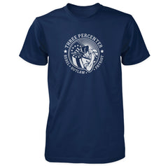 Three Percenter Shirt - Rebel Outlaw Patriot - Navy