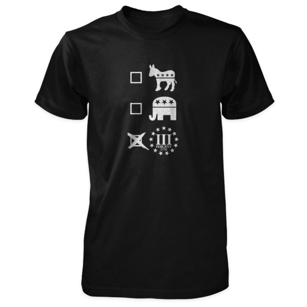 Three Percenter Shirt - Vote III Percent - Black