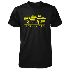 Join or Die Shirt - Exploded AR-15 - Black