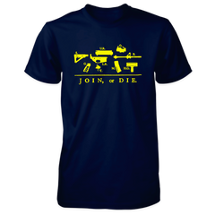 Join or Die Shirt - Exploded AR-15 - Navy