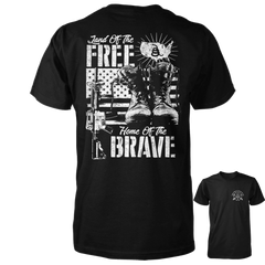 Land of the Free Home of the Brave Shirt - Black