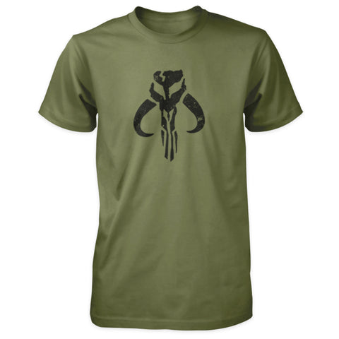 Star Wars Inspired Shirt - Mandalorian Mythosaur Skull - Military