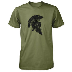 Molon Labe Shirt - Distressed Spartan Helmet - Military