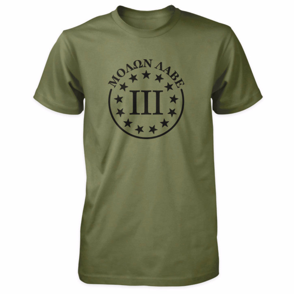 Molon Labe Shirt - III Percenter & 13 Stars - Military