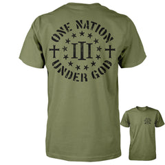 Three Percenter Shirt - One Nation Under God - Military