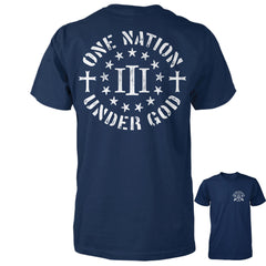 Three Percenter Shirt - One Nation Under God - Navy