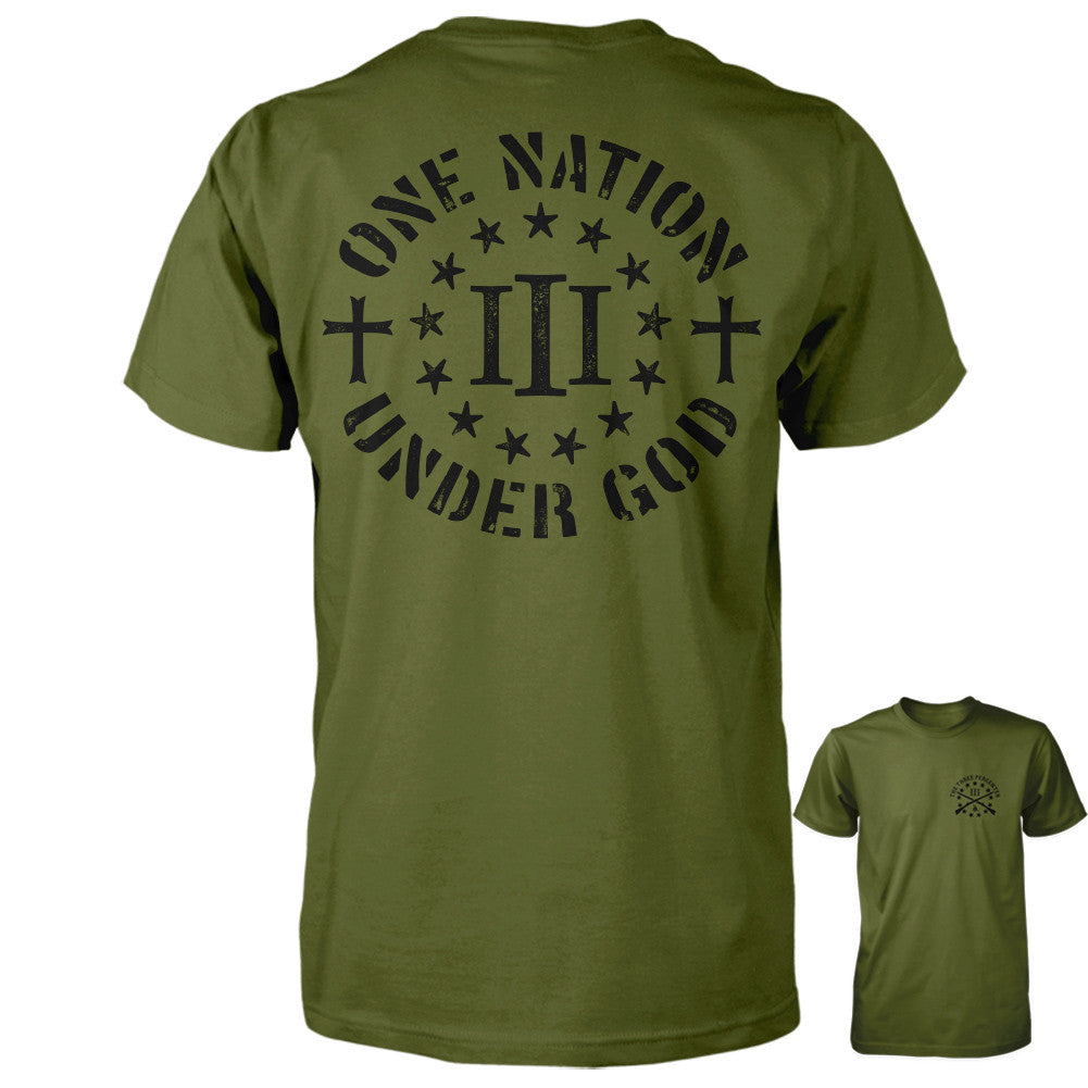 Three Percenter Shirt - One Nation Under God
