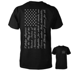 Pledge of Allegiance Flag Shirt - Black