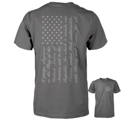 Pledge of Allegiance Flag Shirt - Charcoal