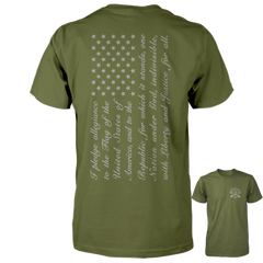 Pledge of Allegiance Flag Shirt - Military