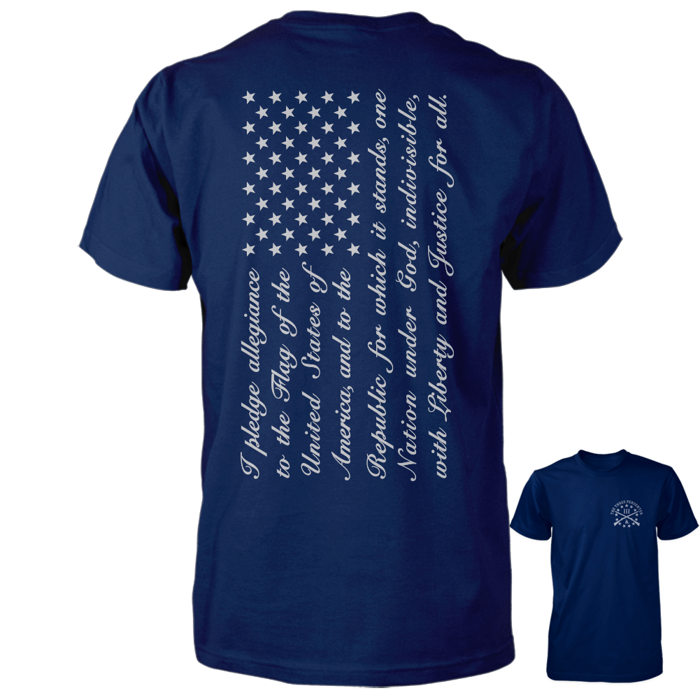 Pledge of Allegiance Flag Shirt - Navy