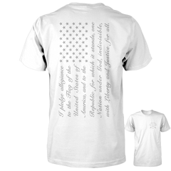 Pledge of Allegiance Flag Shirt - White