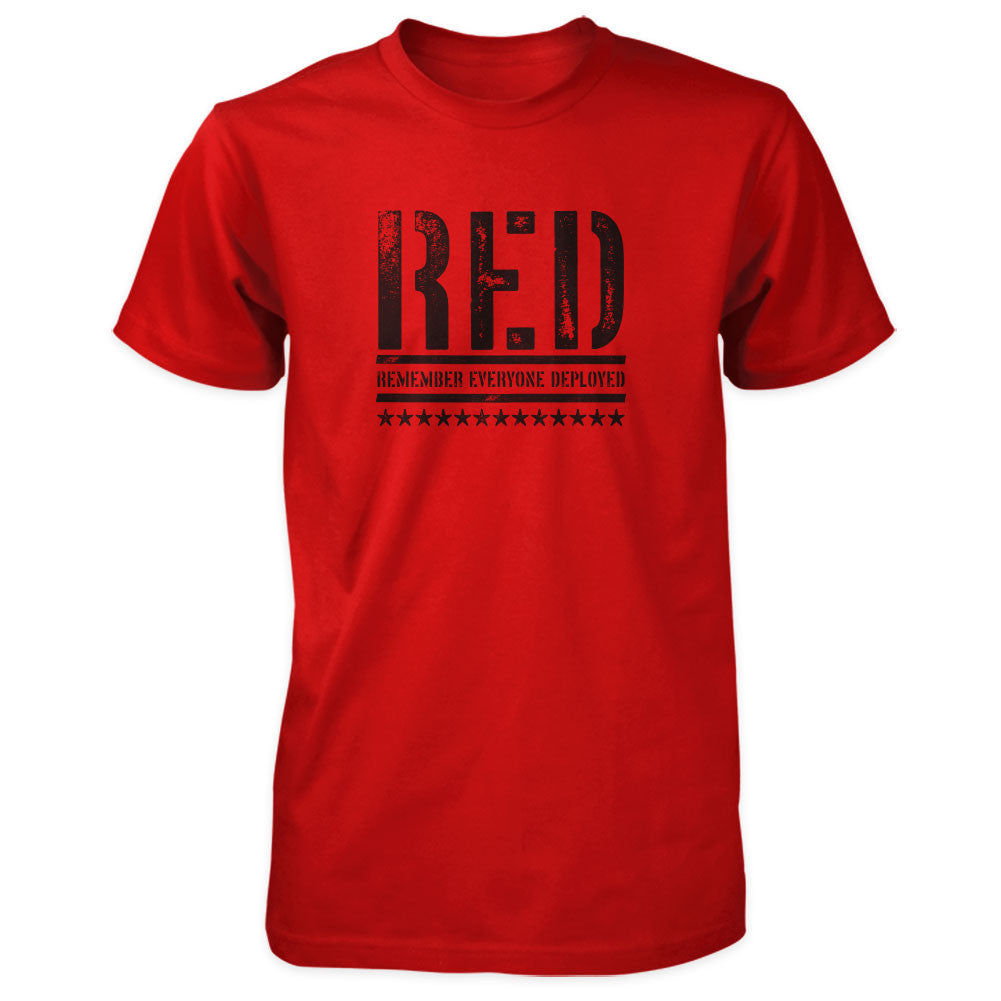 RED Shirt - Remember Everyone Deployed | Front Print - Red