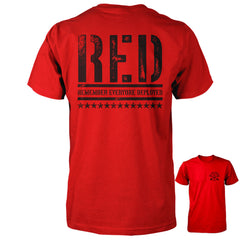 RED Shirt - Remember Everyone Deployed | Back Print - Red