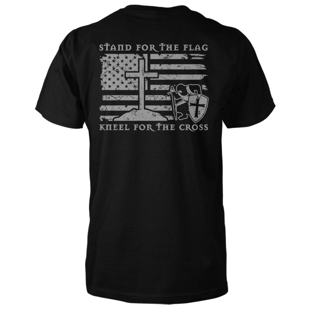 Stand For The Flag, Kneel For The Cross Shirt - Black