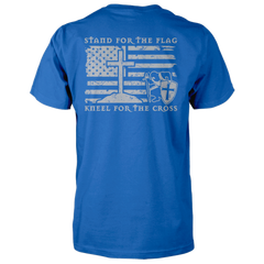 Stand For The Flag, Kneel For The Cross Shirt - Royal