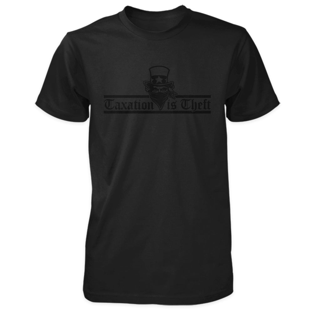 Taxation is Theft Shirt - Blackout