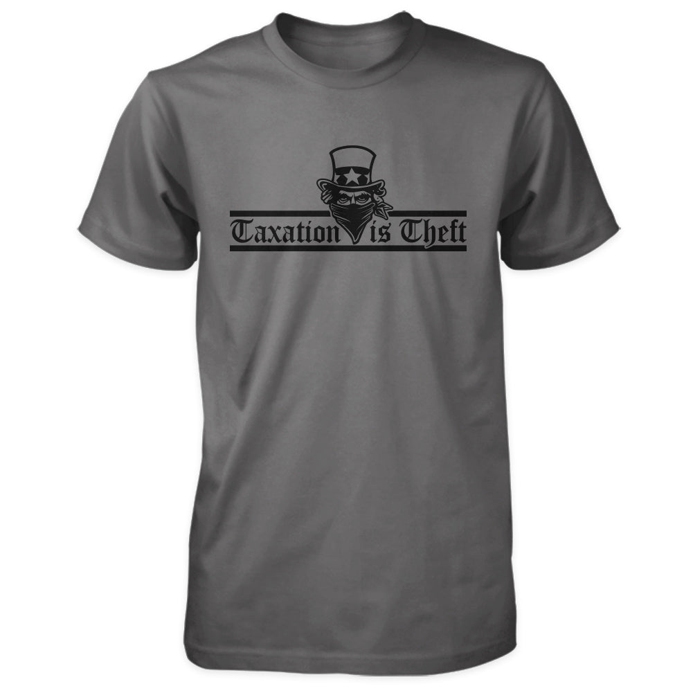 Taxation is Theft Shirt - Charcoal
