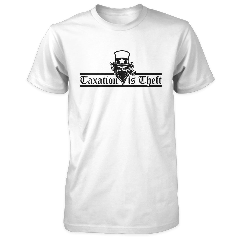 Taxation is Theft Shirt - White