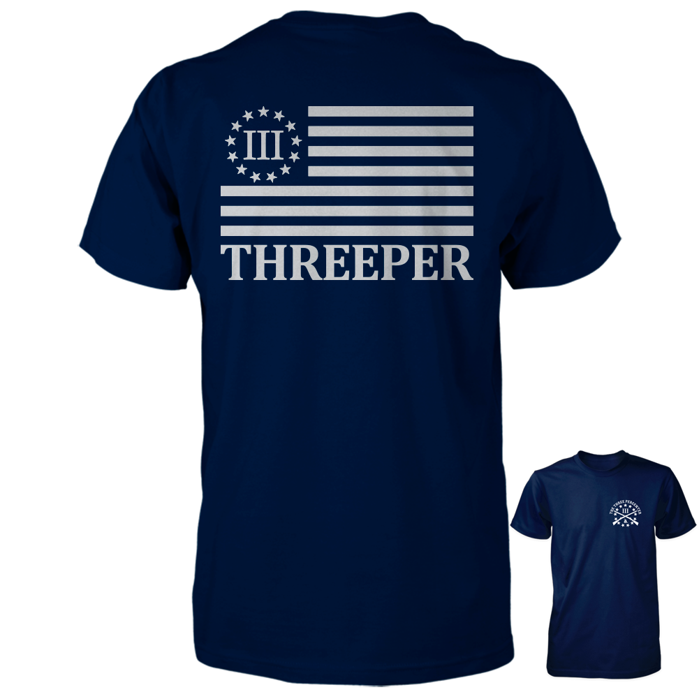 Three Percenter Shirt - The Threeper Flag