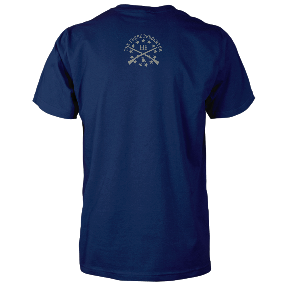 Three Percenter Shirt - III & Join or Die Snake - Back Navy