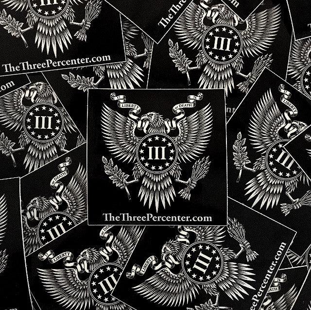 The Three Percenter Great Seal Sticker
