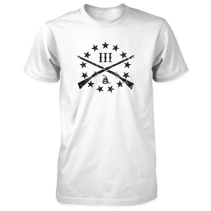 The Three Percenter Logo Shirt - White