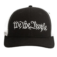 We The People Snapback - Constitution Preamble - Black & White