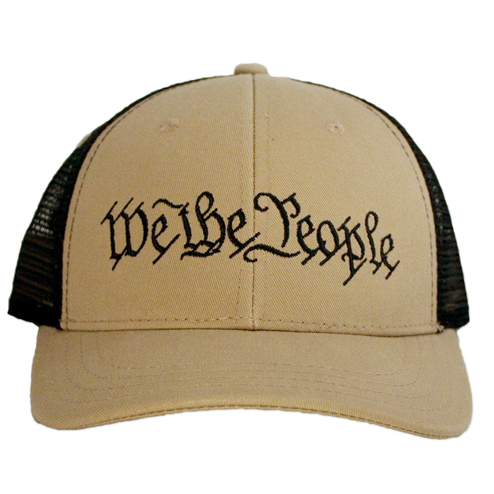 We The People Snapback - Constitution Preamble - Tan & Black