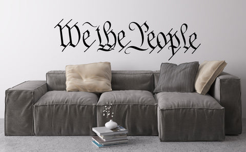 We The People Wall Decal - United States Constitution Preamble