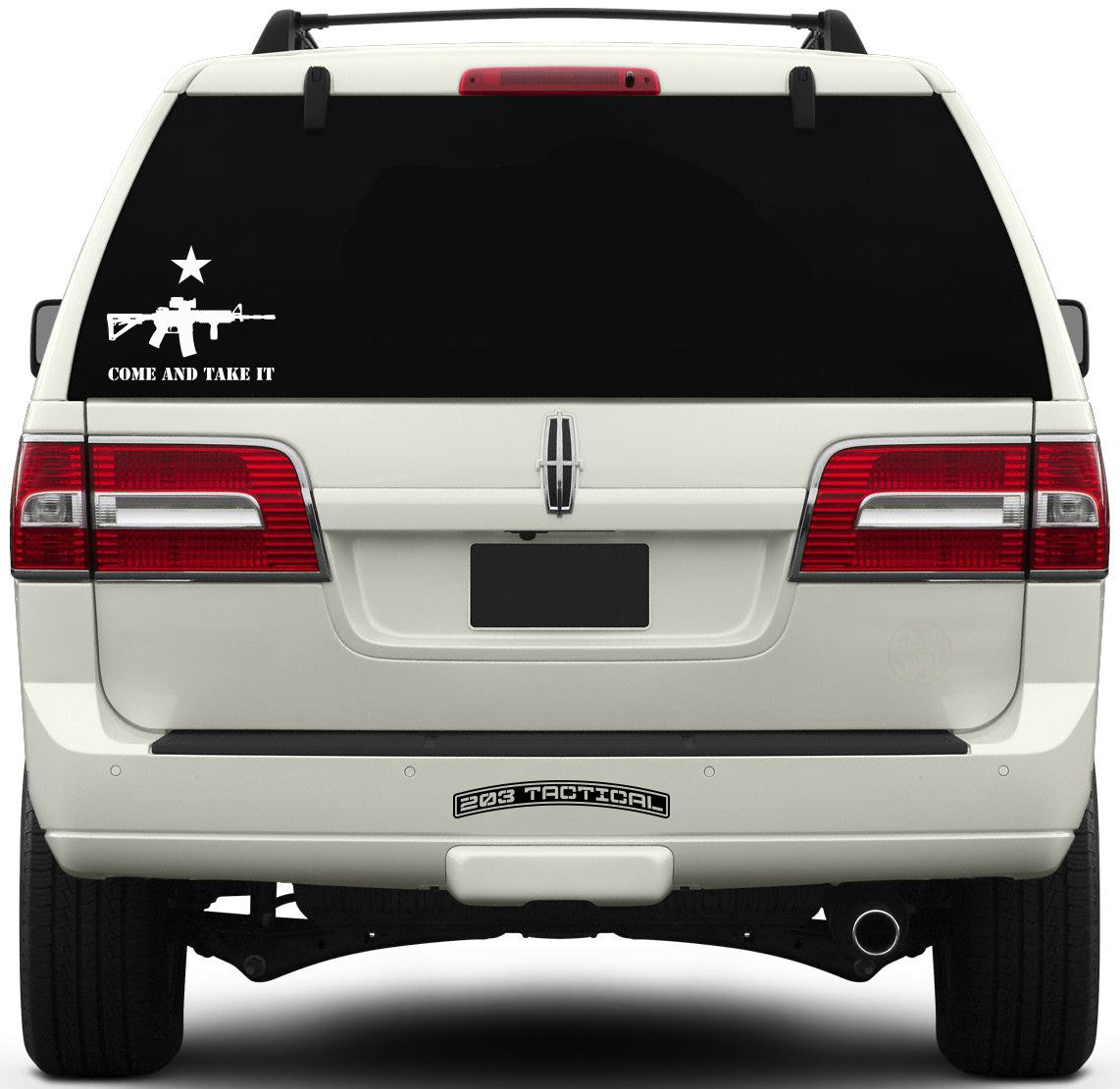 Come and Take It Window Decal - AR-15 & Lone Star - Small