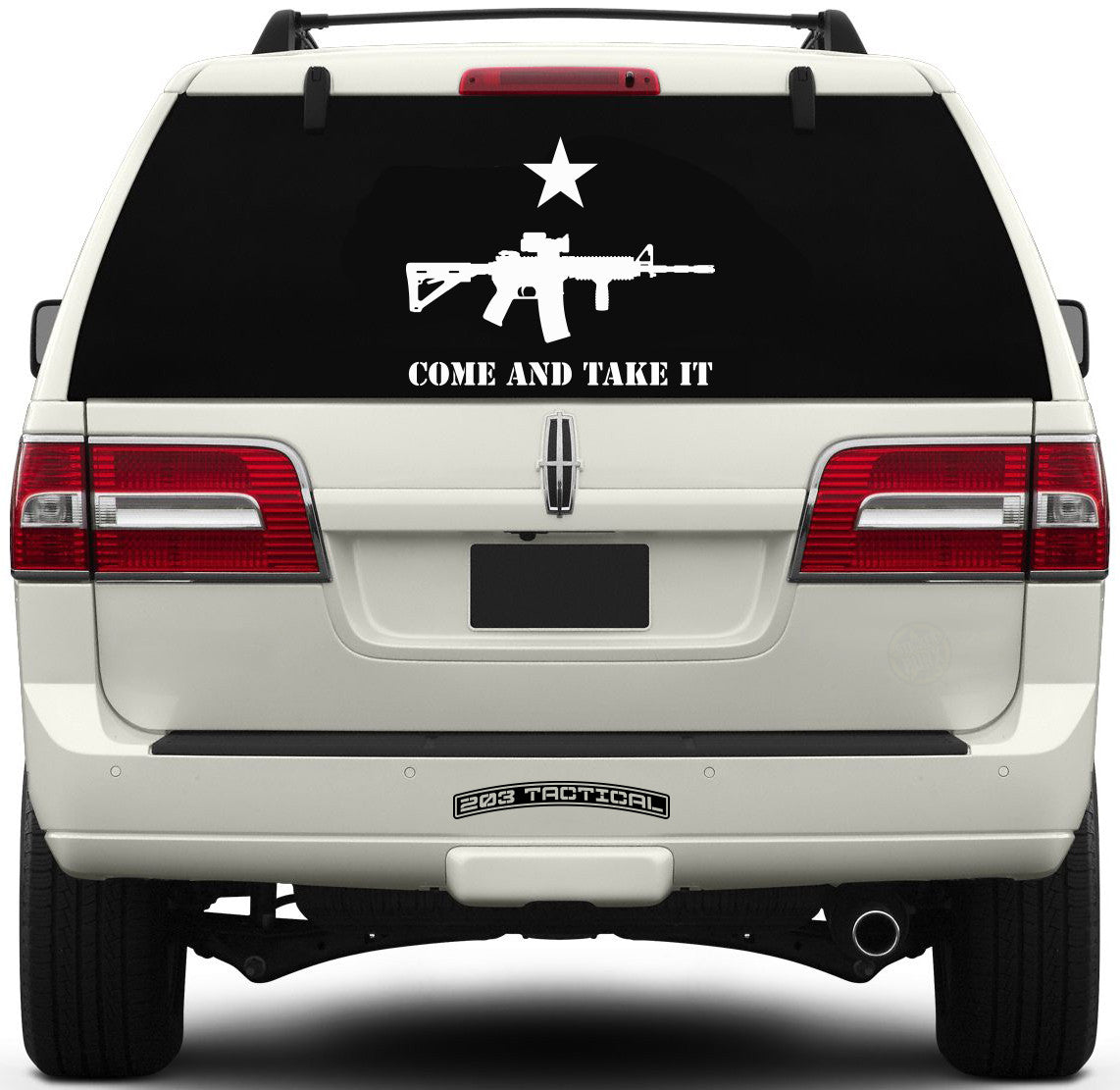 Come and Take It Window Decal - AR-15 & Lone Star