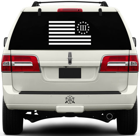 Charging III Percenter Flag Window Decal - Large