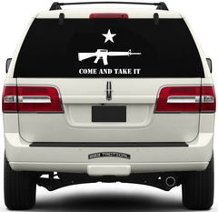 Come and Take It Window Decal - M16 & Lone Star