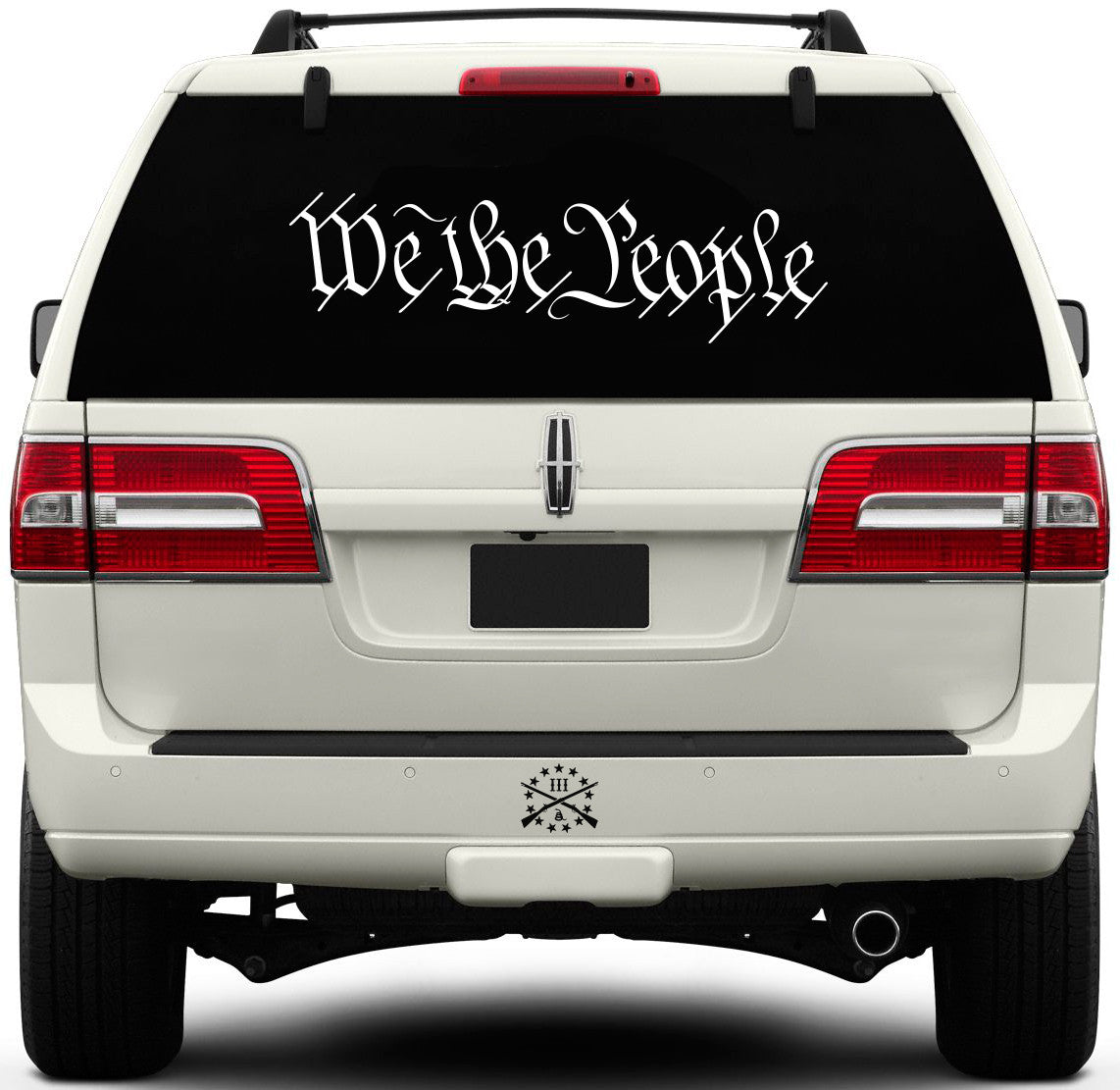 We The People Window Decal