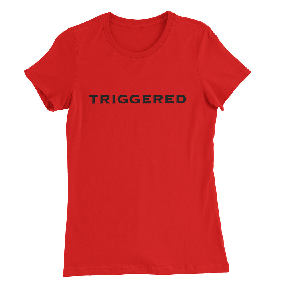 Praetorian Ventures Womens Shirt - Triggered - Red with Black