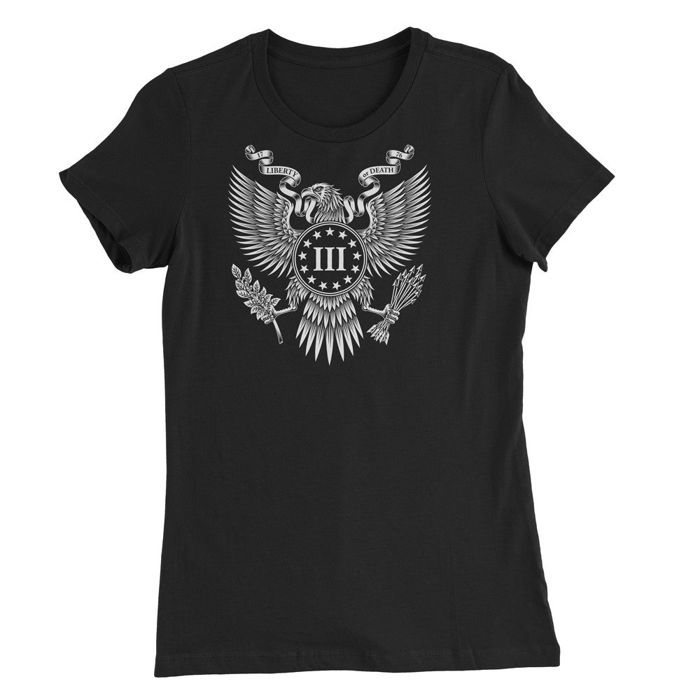 Women's Great Seal of the III Percent Shirt - Black