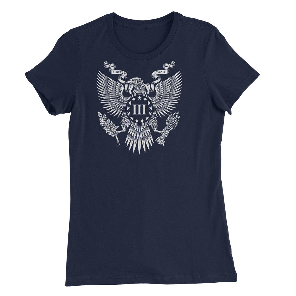 Women's Great Seal of the III Percent Shirt - Navy