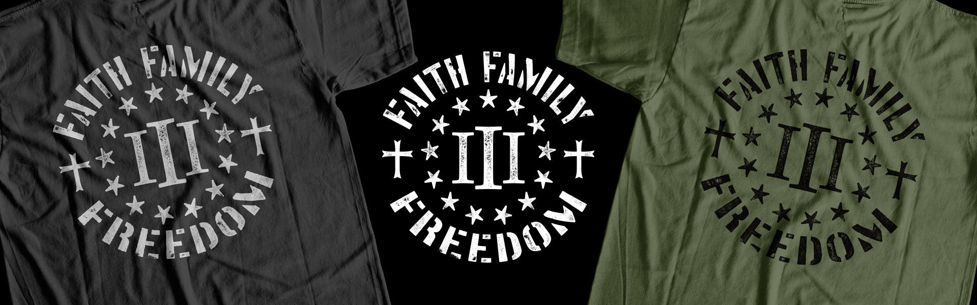 Faith Family Freedom Tee