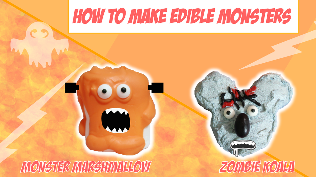 DIY Edible Monsters: Zombie Koalas and Monster Marshmallows