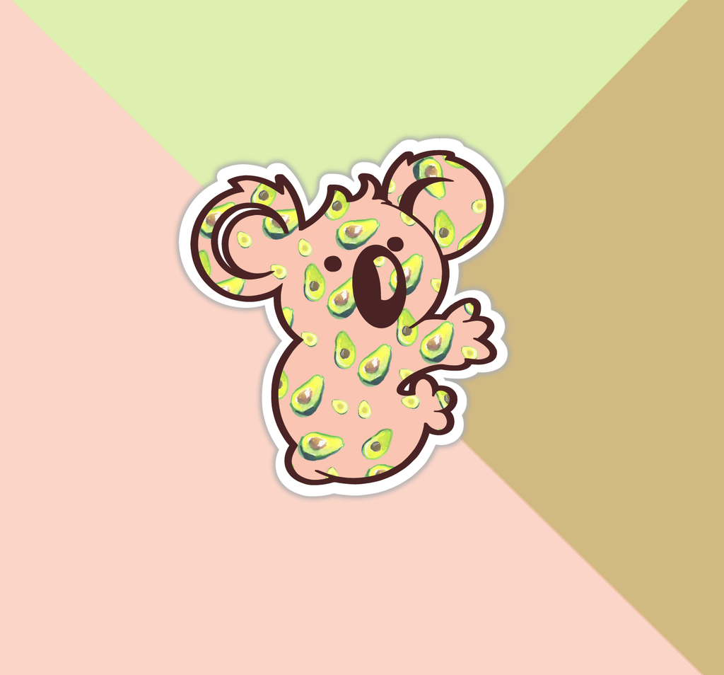 Avocado Koala Sticker