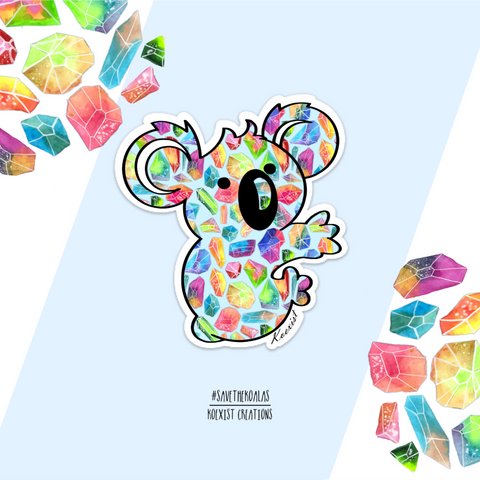 Crystal Cave Koala Sticker
