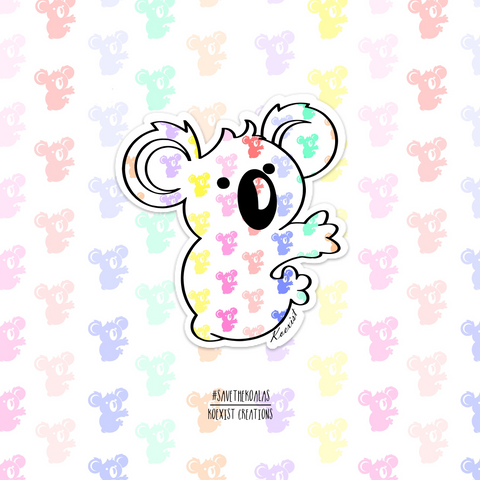 Rainbow Koala Sticker