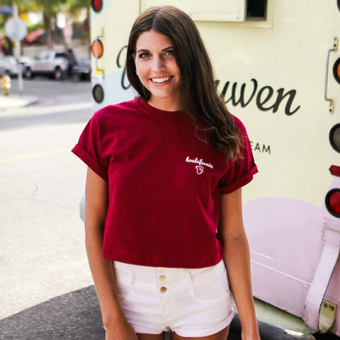 Cherry Red Koalafornia Crop Top
